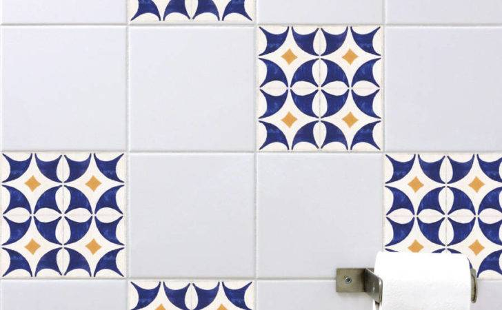 Spanish Tile Stickers Orange Blue Spin Collective