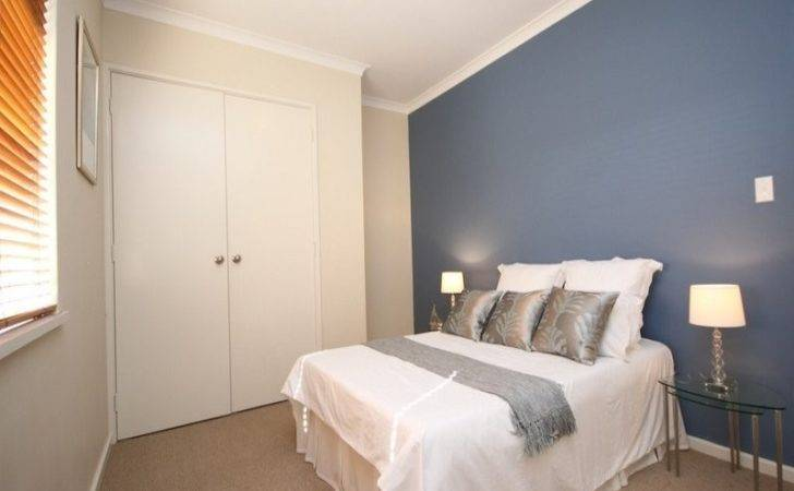 Spectacular Blue Feature Wall Bedroom Lentine Marine