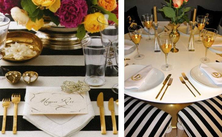 Spectacular White Gold Table Settings
