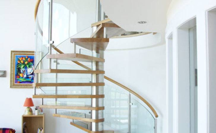 Spiral Staircase Ayrshire Curved Glass Panels