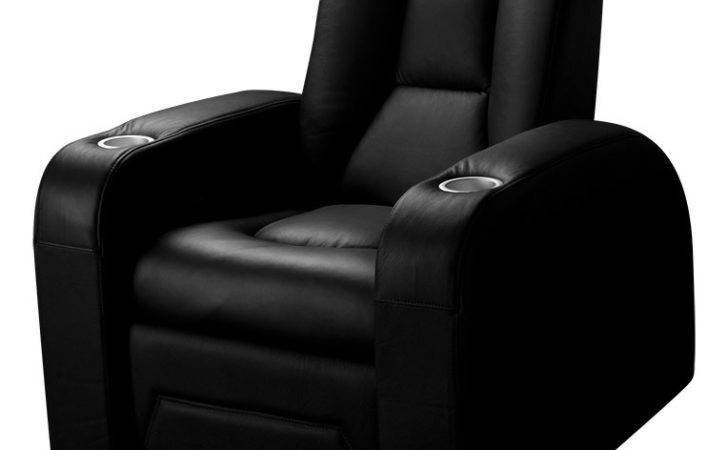 Spitfire Series Black Leather Home Cinema Seat