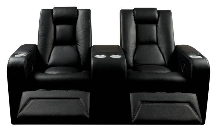 Spitfire Series Black Leather Home Cinema Seats