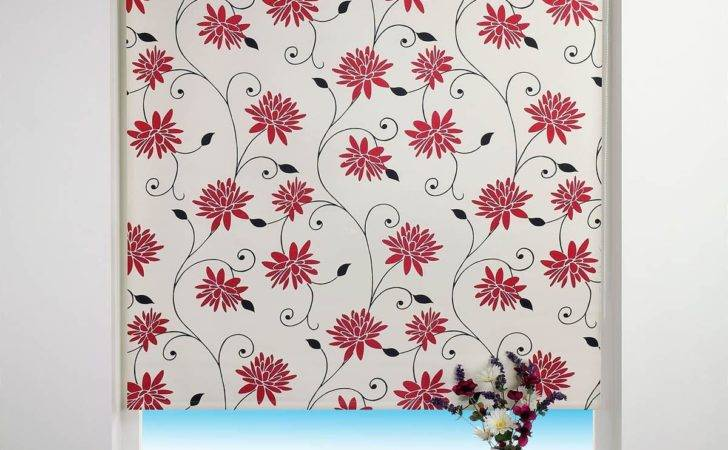 Spring Bloom Blackout Roller Blind Red Delivery