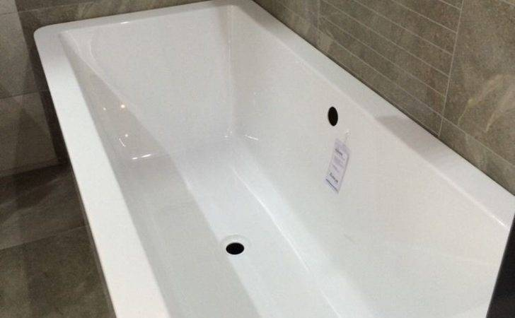 Square Freestanding Acrylic Bath Double Ended