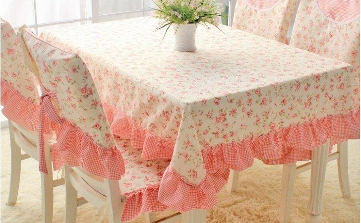 Square Pink Floral Tablecloth Country Style Dining Table