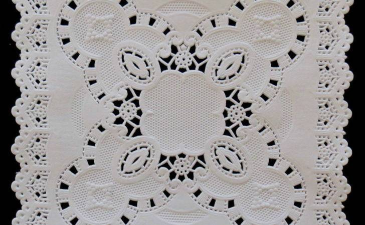 Square White Embossed Doilies Ebay