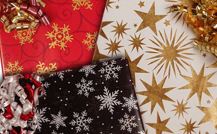 Star Snowflake Wrapping Paper