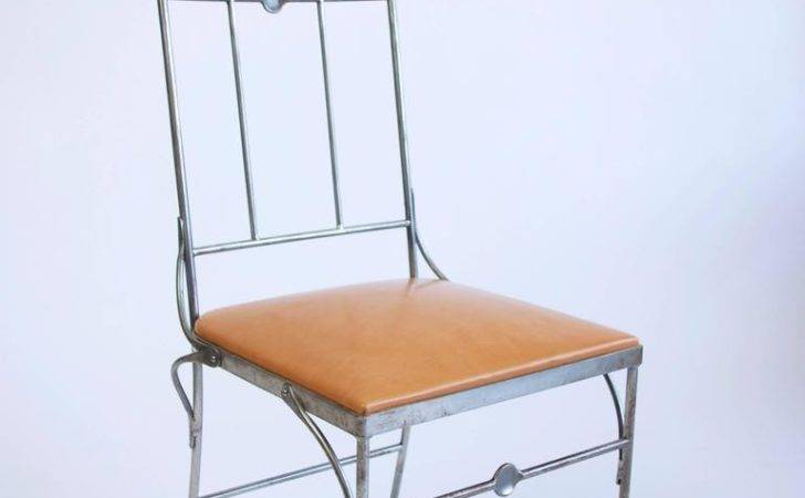 Steel Leather Conservatory Chair Stdibs
