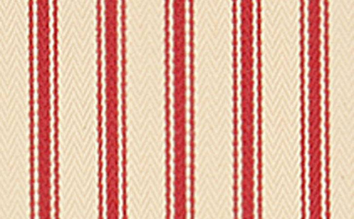 Stella Ticking Fabric Red