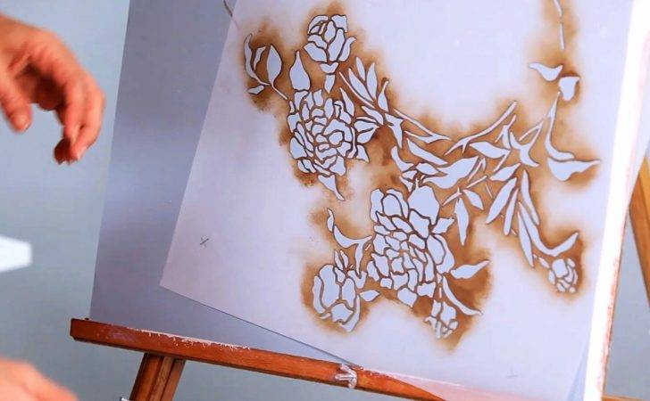 Stencil Wall Paint Techniques Youtube