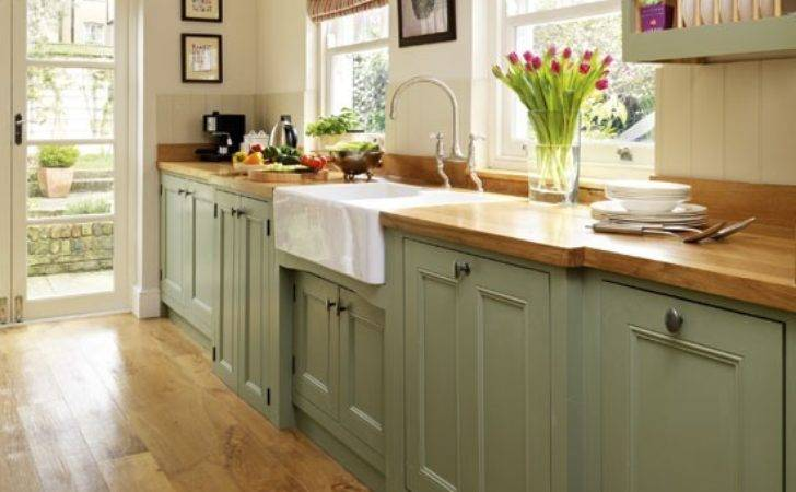 Step Inside Traditional Muted Green Kitchen