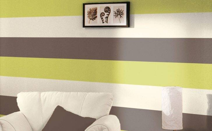Stripe New Feature Wall Lime Chocolate Grey