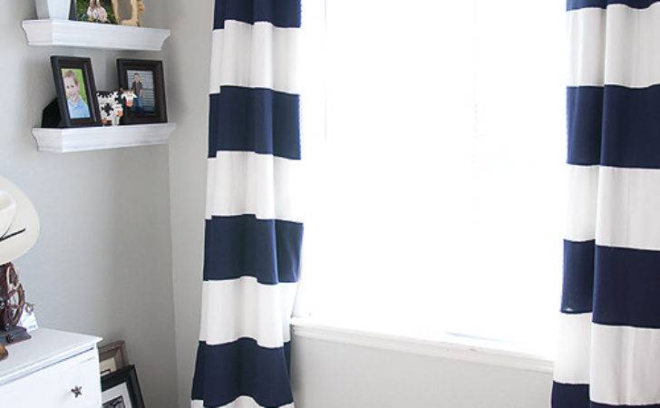 Striped Curtains Blooming Homestead