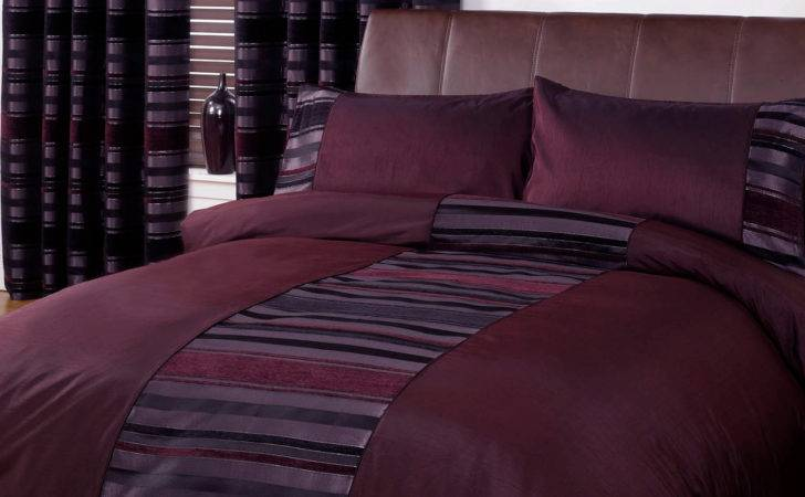 Striped Duvet Quilt Cover Contemporary Chenille Bedding