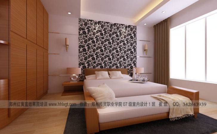 Student Bedroom Paisley Feature Wall Interior Design Ideas