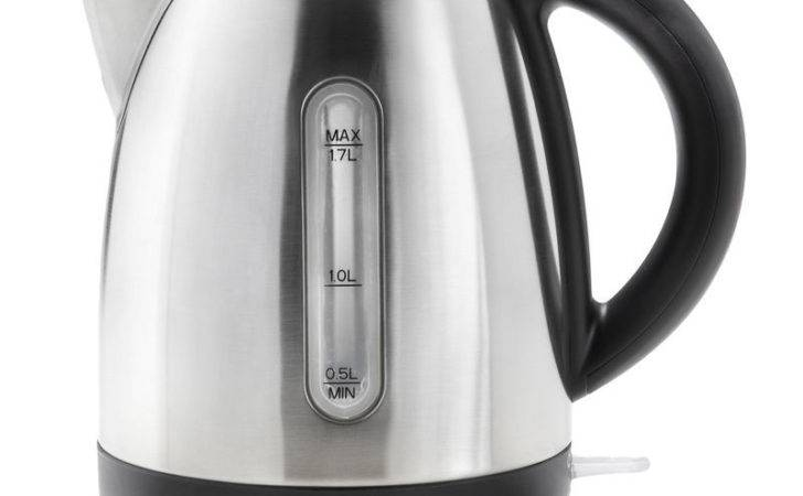 Stylish Stainless Steel Goodmans Cordless Kettle Silver