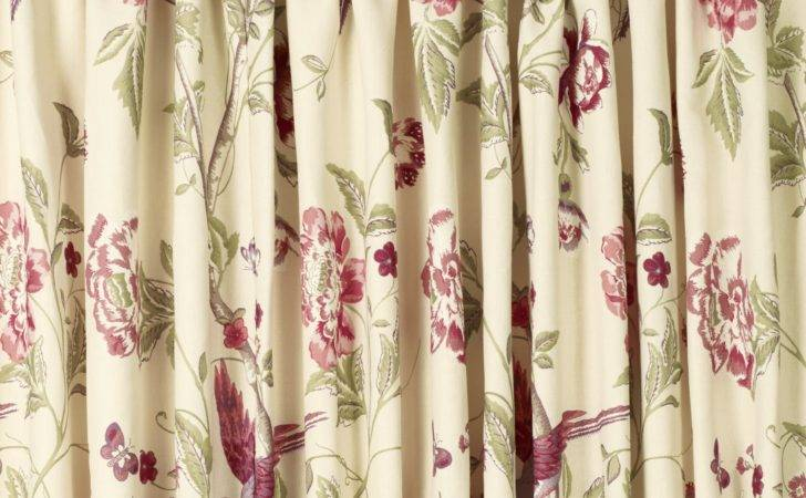 Summer Palace Cranberry Pencil Pleat Ready Made Curtains