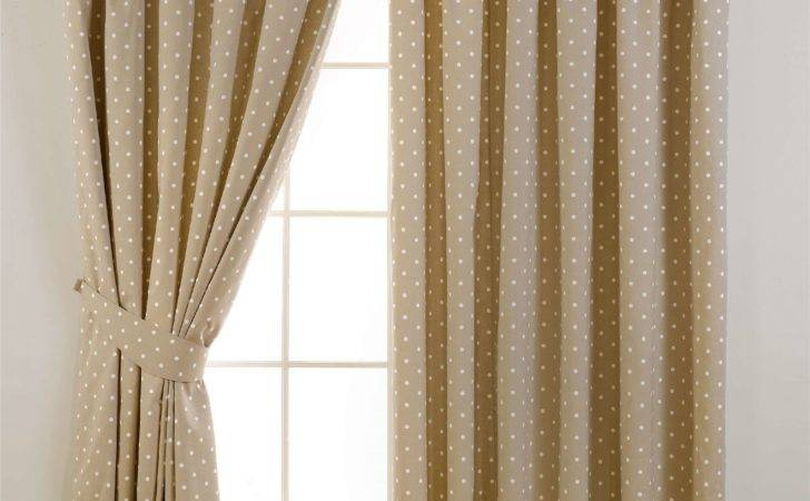 Sundour Dotty Ready Made Lined Pencil Pleat Curtains Ebay