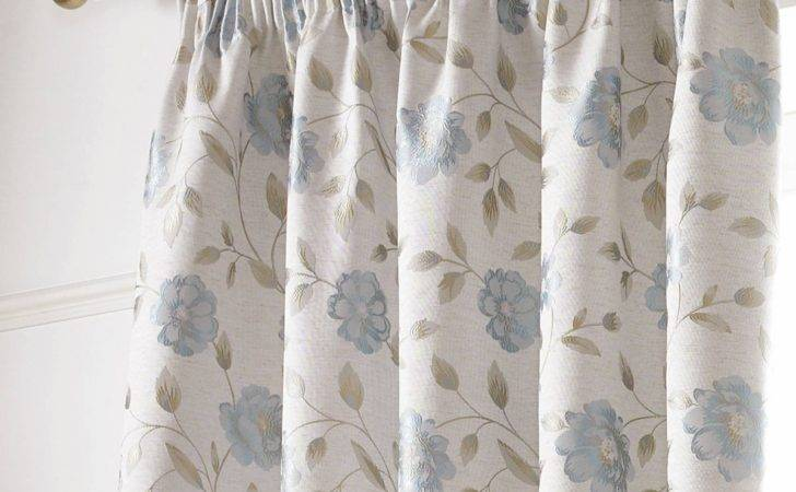 Sundour Hereford Lined Pencil Pleat Curtains Blue