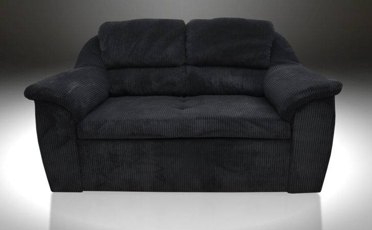 Super Comfy Sofa Bed Two Seater Jerry Black Cord Fabric