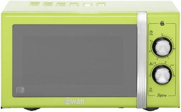 Swan Retro Standing Microwave Oven Lime