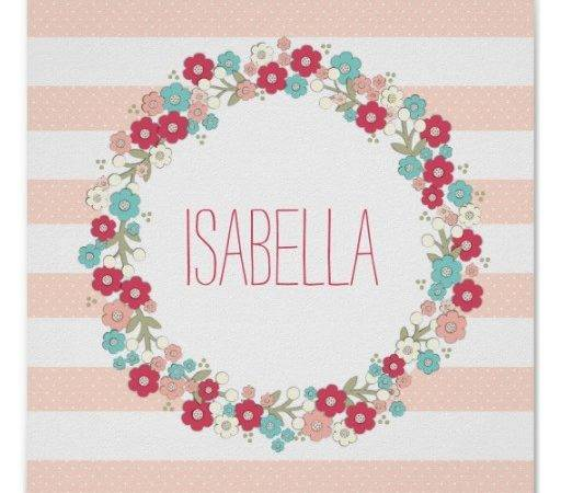 Sweet Floral Girl Name Personalised Wall Art Poster Zazzle