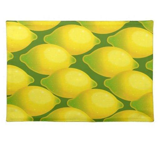 Sweet Juicy Yellow Citrus Lemon Design Placemat