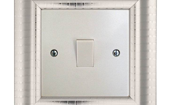 Switch Surround Frame Cover Finger Plate Verona Silver