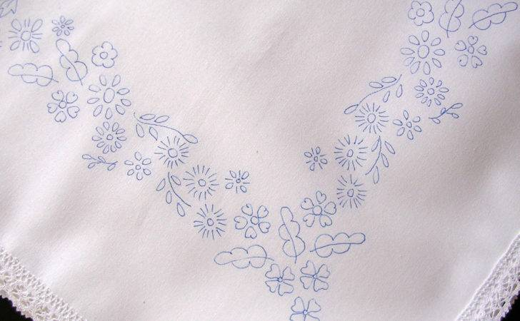 Tablecloth Embroider Cotton Lace Edge Flowers Border