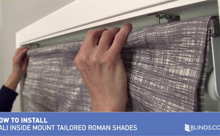 Tailored Roman Shades Perfect Titled Make