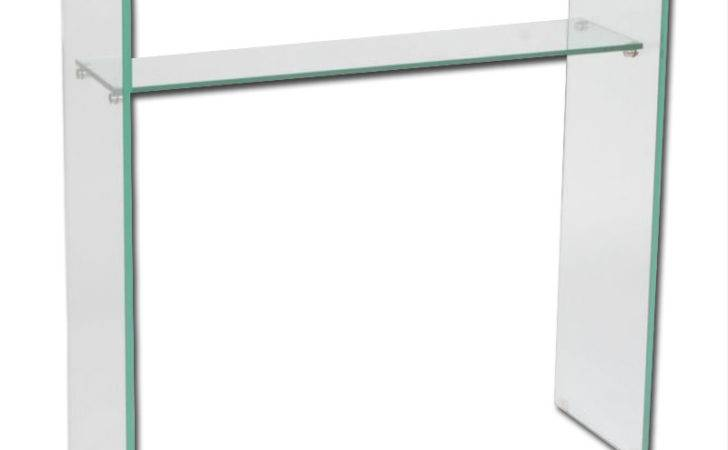 Tall Console Table Wood Glass