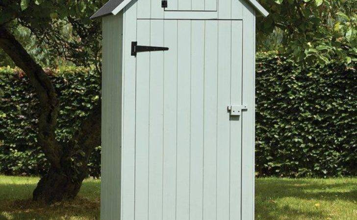 Tall Wooden Sentry Box Garden Tool Storage Shed Narrow