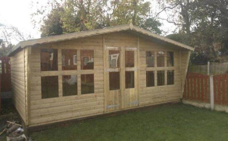 Tanalized Garden Loglap Summer House Sale