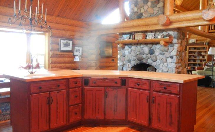 Tasty Decorating Rustic Kitchen Cabinets