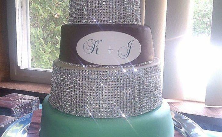 Teal Brown Wedding Cake Cakecentral