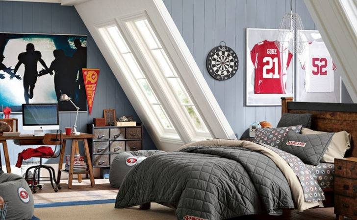 Teenage Guys Bedroom Ideas Football Inspired Pbteen