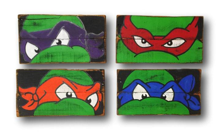 Teenage Mutant Ninja Turtles Wall Art Turtle Room Decor