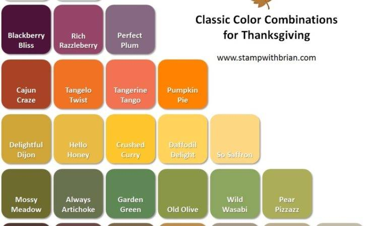 Thanksgiving Color Combinations Stamp Brian