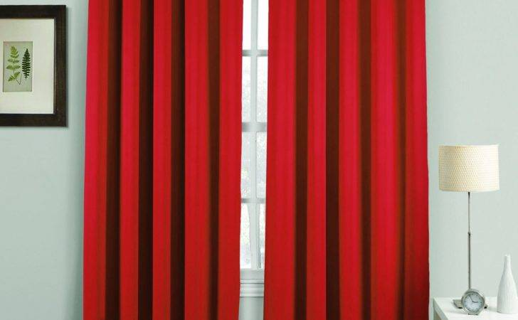 Thermal Blackout Curtains Pair Ring Top Eyelet Ready Made