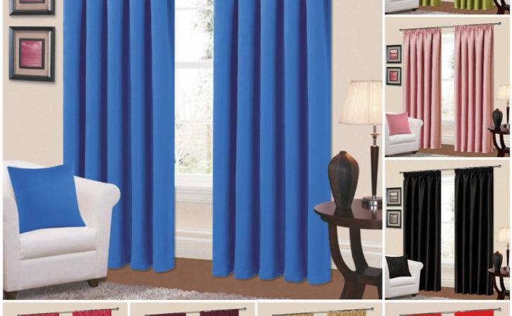 Thermal Blackout Curtains Pencil Pleat Light Reducing
