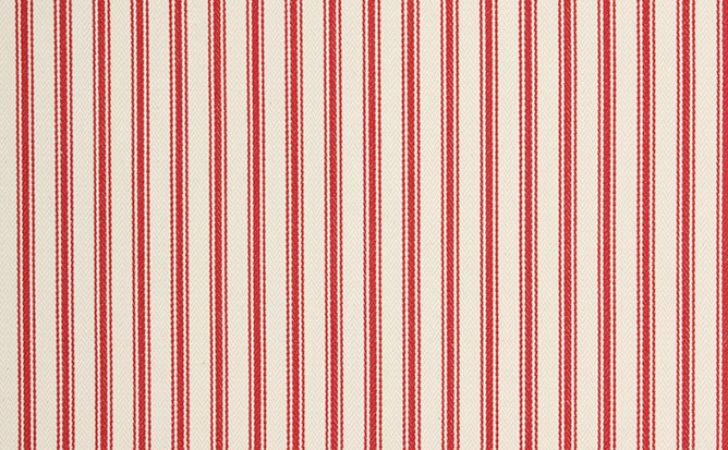 Ticking Fabric Red Just Fabrics