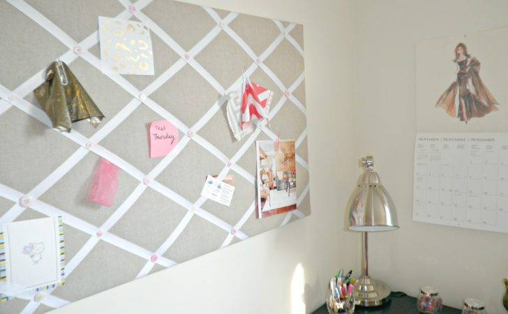 Tiffany Leigh Interior Design Diy Ribbon Linen Pinboard