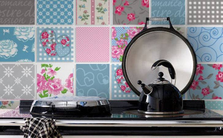 Tile Decals Patchwork Stickers Kitchen Tiles