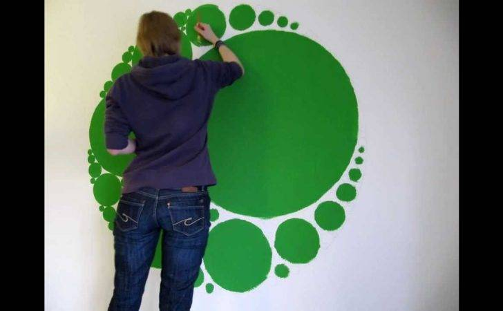 Timelapse Circle Fractal Wall Painting Youtube