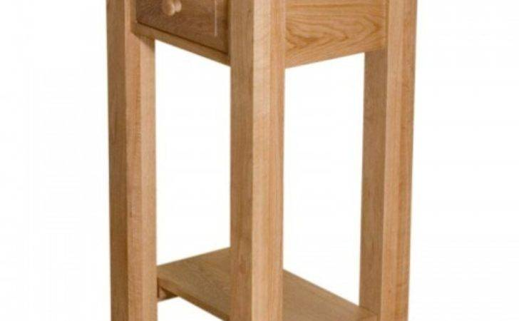 Timeless Oak Small Hall Console Table