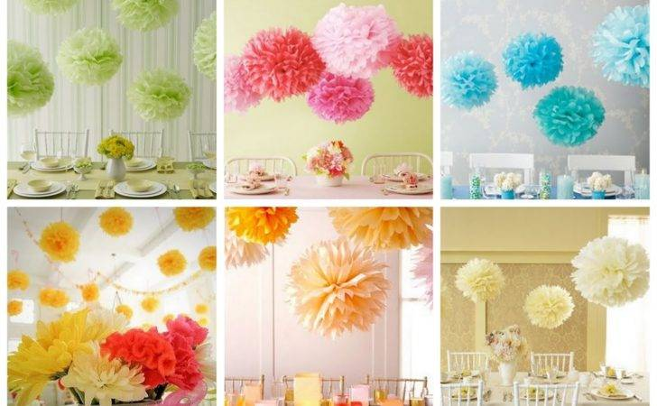Tissue Paper Pom Flower Balls Wedding