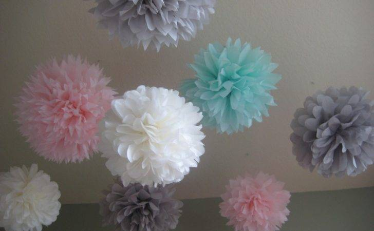 Tissue Paper Pom Poms Decoration Holiday Prosttothehost