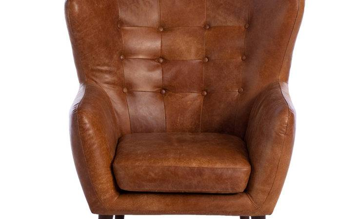 Tobin Outback Leather Chair Tan Chairs Living Room