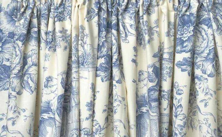 Toile Jouy Blue Ready Made Curtains Lined Ebay