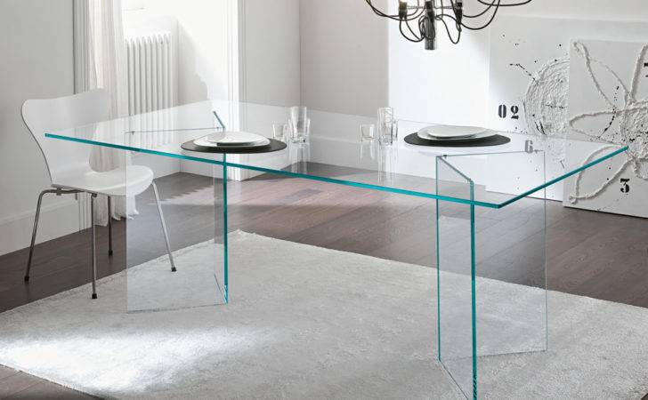 Tonelli Bacco Glass Dining Table Modern Tables